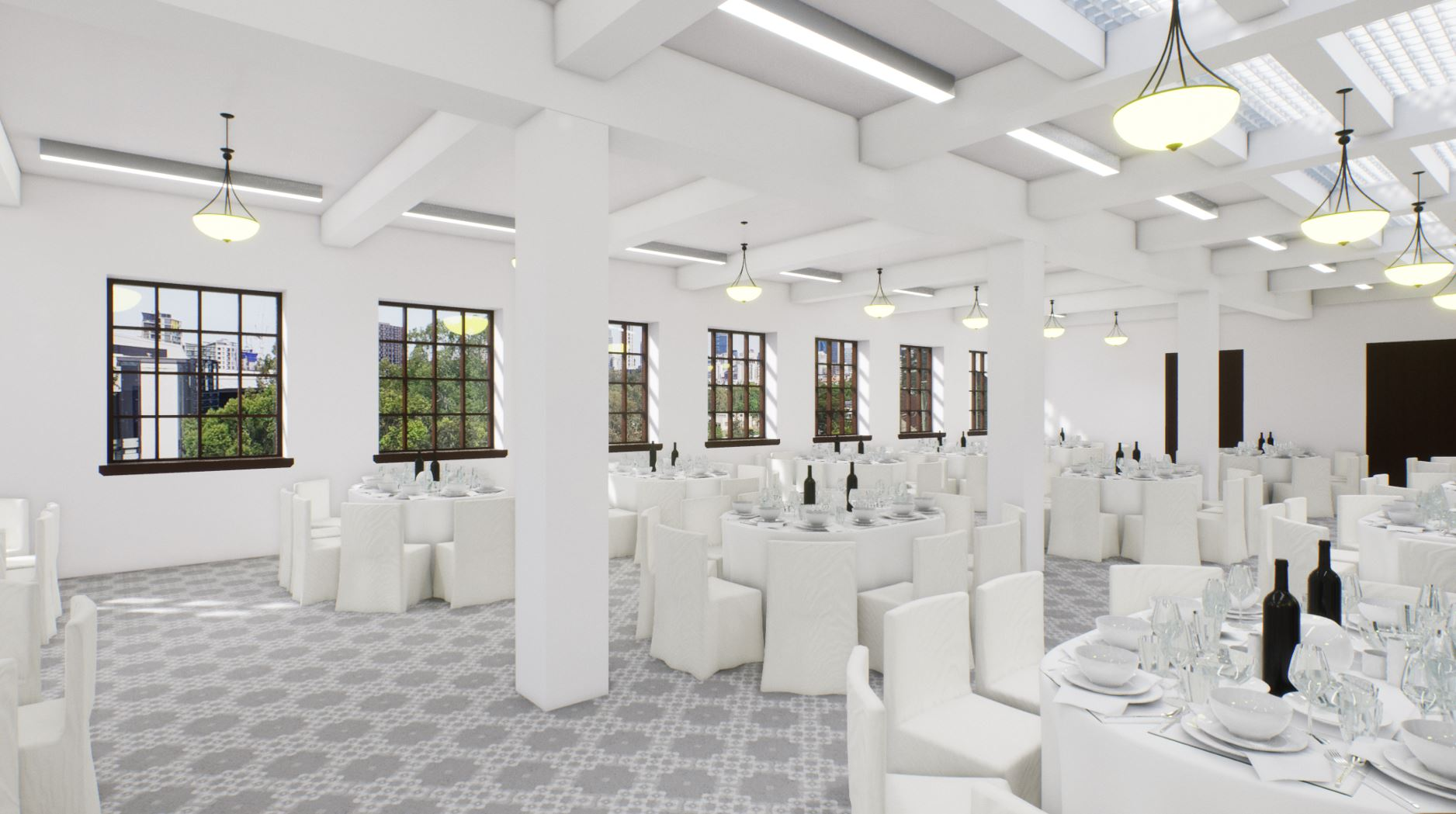 Artists impression of the function hall on level four.
