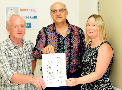 Dr Rob Eley, David Toohey, card illustrator, Chantelle Judge, PAH Clincal Research Nurse.