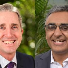 Professor David Johnson (left) and Professor Maher Gandhi (right)