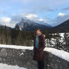 Meg in Banff