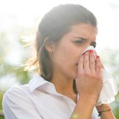 About 50-90 per cent of people get a runny nose when it's cold.