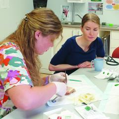 Dr Elizabeth Clarkson sits down with medical students in Theodore