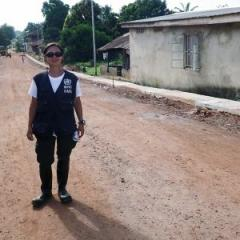 Kei Owada on assignment in Sierra Leone