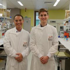 Dr Stephen Mattarollo and PhD student Michael Nissen