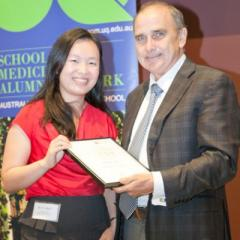 University of Queensland School of Medicine valedictorian Ms Ng with Professor Darrell Crawford, Head of the School of Medicine.